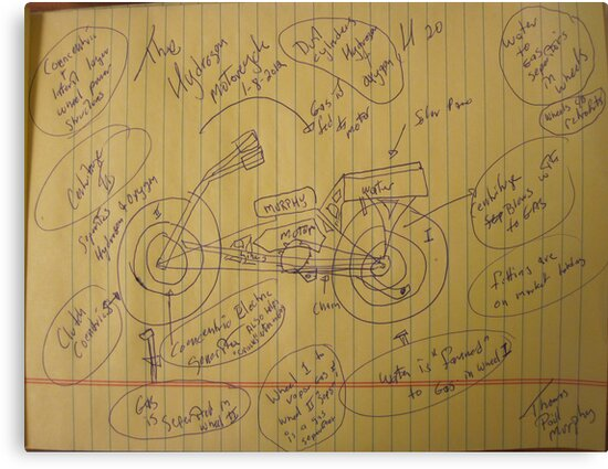 158A The Hydrogen Water Gas Powered Murphy Motorcycle 01102012 HWGPMM by Thomas Murphy
