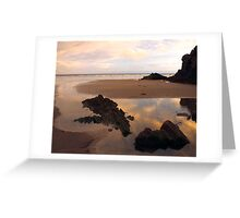 Black Rock Sands at Sunset Greeting Card