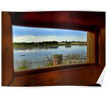 Wetlands through the window Poster