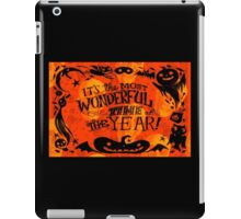 The Most Wonderful Time of the Year iPad Case/Skin