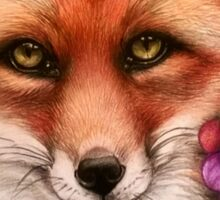 The fox and the grape Sticker