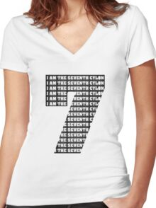 The Seventh Cylon Women's Fitted V-Neck T-Shirt