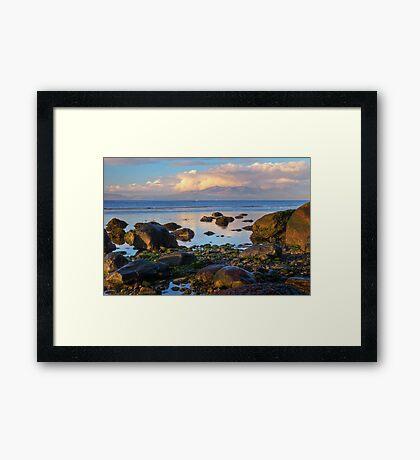 North beach Ardrossan morning Framed Print