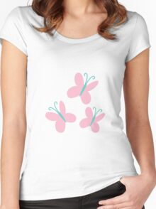 FlutterShy Cutie Mark - My Little Pony Friendship is Magic Women's Fitted Scoop T-Shirt