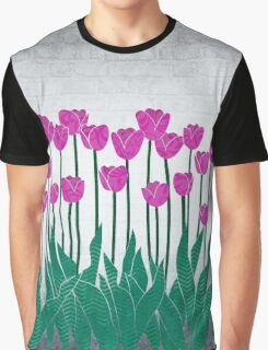 Magenta Tulips Graphic T-Shirt