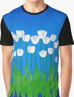 White Tulips Graphic T-Shirt