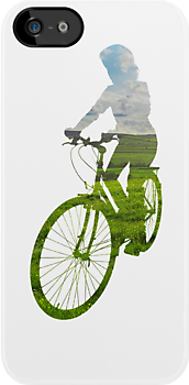Green Cyclist (Female) - iPhone by Andrew Bret Wallis
