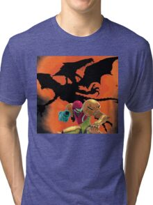 Where's Ridley, Samus?  Tri-blend T-Shirt