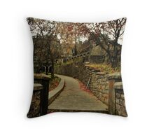 Stone cobbled path Throw Pillow