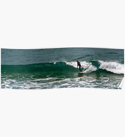 Surfing in Great Ocean Poster