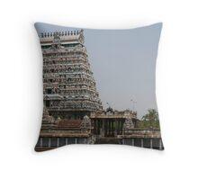 Chidambaram Temple Gopuram Throw Pillow
