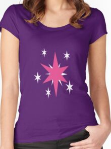 Twilight Sparkle Cutie Mark - My Little Pony Friendship is Magic Women's Fitted Scoop T-Shirt