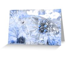 Touch of a blue Greeting Card