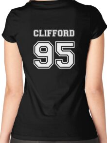 Clifford 95 white ink Women's Fitted Scoop T-Shirt