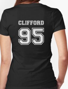 Clifford 95 white ink Womens Fitted T-Shirt