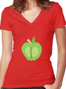 Big Macintosh Cutie Mark - My Little Pony Friendship is Magic Women's Fitted V-Neck T-Shirt