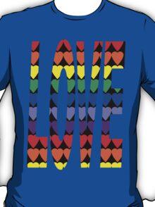 Love Rainbow Hearts T-Shirt