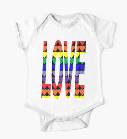 Love Rainbow Hearts Kids Clothes