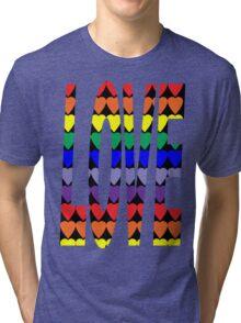 Love Rainbow Hearts Tri-blend T-Shirt