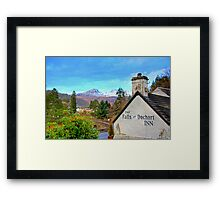 The view from the Falls of Dochart Inn Framed Print