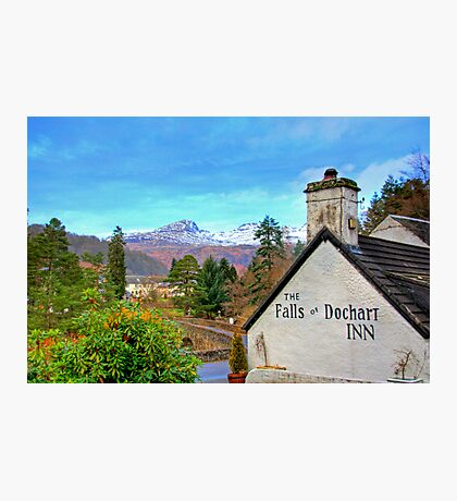 The view from the Falls of Dochart Inn Photographic Print