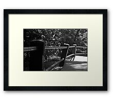 The crooked baluster Framed Print