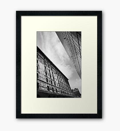 A Cute Angle BW Framed Print