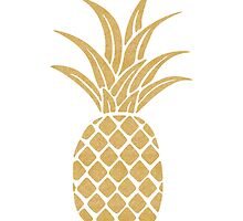 Gold Pineapple  by bombinodesigns