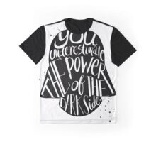 Star Wars Inspired Darth Vader Typography Quotes Graphic T-Shirt