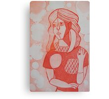 Girl in the Mirror Inspired Red Version Canvas Print