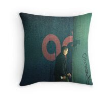 San Francisco Rain Walker Throw Pillow