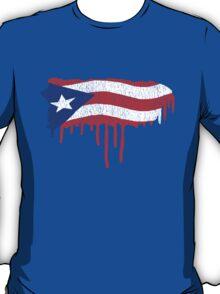 Puerto Rico Paint Drip  T-Shirt