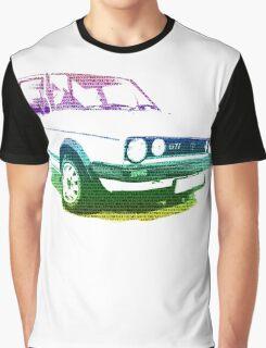 MK1 VW GOLF GTI MULTICOLOUR Graphic T-Shirt