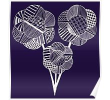Geometric flowers Poster