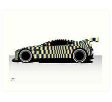 Aston Martin Gulf Vantage Tobias Rehberger WEC Le Man 2015 Art Print