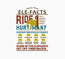 Ultimate Elephant Ride Facts Women's Fitted V-Neck T-Shirt
