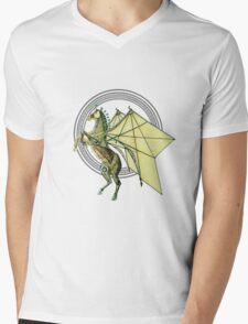 Mechanical Trojan Pegassus Mens V-Neck T-Shirt