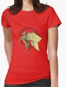 Mechanical Trojan Pegassus Womens Fitted T-Shirt