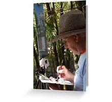 The Artist - El Artista Greeting Card