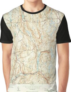 Massachusetts  USGS Historical Topo Map MA Barre 351515 1954 31680 Graphic T-Shirt