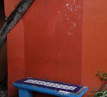 The Blue Bench - El Banco Azul by Bernhard Matejka