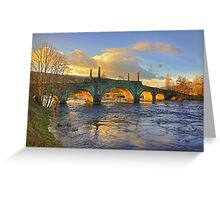 Wade's Bridge at Aberfeldy Greeting Card