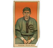 Benjamin K Edwards Collection Pfiester Chicago Cubs baseball card portrait Poster