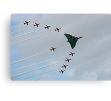 Avro Vulcan Escorted by the Red Arrows Canvas Print