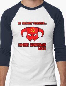 Soviet Knees Have Arrows... Men's Baseball ¾ T-Shirt