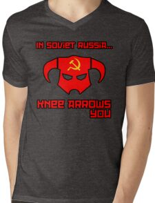 Soviet Knees Have Arrows... Mens V-Neck T-Shirt