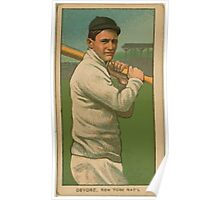 Benjamin K Edwards Collection Josh Devore New York Giants baseball card portrait Poster