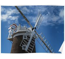 The windmill at Cley Poster