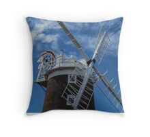 The windmill at Cley Throw Pillow