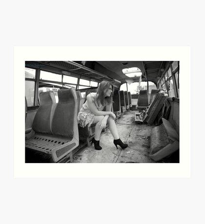 The Very Late Bus Art Print